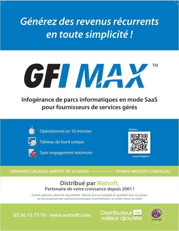 Solution d'infogérance GFI MAX RM
