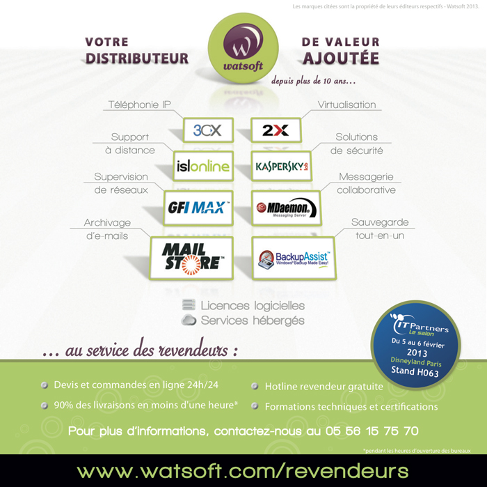 Guide IT Partners 2013 - Watsoft