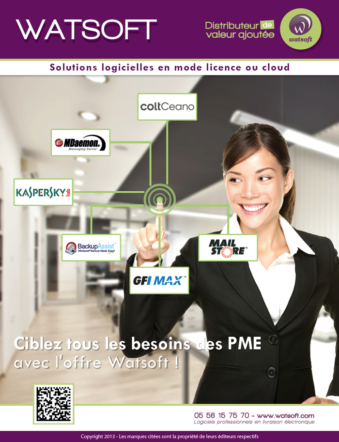 Publicité institutionnelle Watsoft